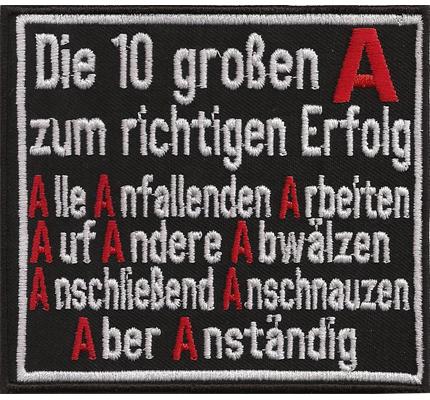 10 A großen Erfolg Motivation Trainer Speaker Seminar lustiger Spruch Aufnäher
