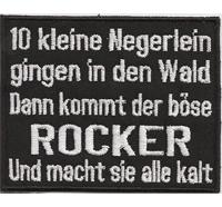 10 Kleine Negerlein gingen in den Wald, Rocker macht Sie Kalt, Biker Kutte Aufnäher