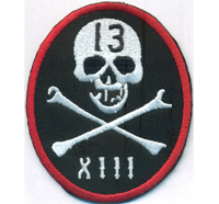 13 Lucky Number 13 Skull Crossed Bones Pirate Biker Motorcycle Aufnäher Patch