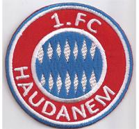 1. FC Haudanem Schweinskicker Lustiger Fussball Spass Club Aufnäher Abzeichen
