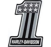1er Harley Davidson Einser Willis USA Flag Biker Motorcycle Patch Aufnäher Abzeichen