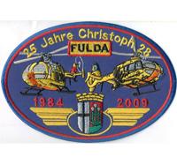 25 Jahre Christoph Fulda Helikopter Luftrettung ADAC Hubschrauber Aufnäher Abzeichen