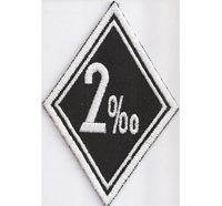 2 Prozenter 2%er Promille No Outlaw Motorrad Kutte Biker MC Patch Aufnäher