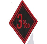 3 % Prozenter Biker Raute Diamant Motorcycle Motorrad Aufnäher Patch