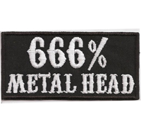 666 Metal Head Heavy Thrash Death Metal Rocker Kutte T-shirt Aufnäher Patch