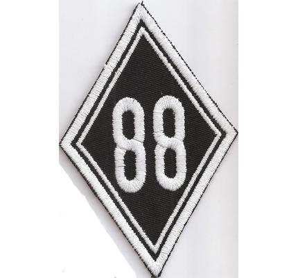 88 HH White Boy Brotherhood Motorrad Kutte Biker MC Patch Aufnäher Aufbügler