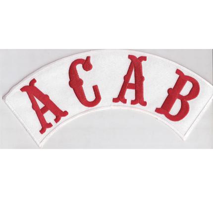 ACAB A.C.A.B, BACKPATCH All Cops Are Bastards Ultras Biker Rocker Kutte Aufnäher