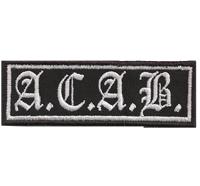 ACAB Old English Ultras Biker Rocker Anti Polizei Aufnäher Patch
