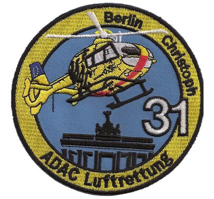 ADAC RTH Christoph 31 Luftrettung Helikopter Aufnäher Patch Abzeichen