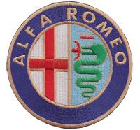 ALFA ROMEO XXL Fiat  Giulietta, Brera 159, 147 Spider, MITO, DNA Aufnäher Aufbügler