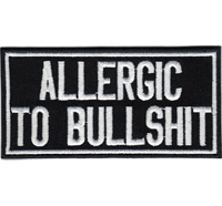 ALLERGIC to Bullshit reaction Biker Heavy Metal Rockabilly Patch Aufnäher Aufbügler