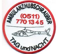 AMBULANZHUBSCHRAUBER Tag und Nacht Helikopter Christoph SAR DFR Abzeichen Aufnäher