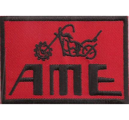 AME red chopper lenker tanks Biker Custom Motorrad Patch Aufnäher