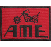 AME red chopper lenker tanks Biker Custom Motorrad Patch Aufnäher