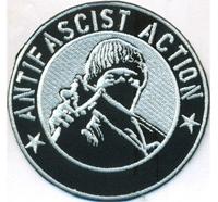 ANTIFASCIST Action Anarchy Punk Bootboys Ultras Biker Aufnäher Patch Sticker