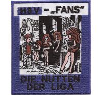 ANTI HSV Hamburg SV Fans, Die NUTTEN der Liga, Ultras Fanclub Trikot Kutte Aufnäher