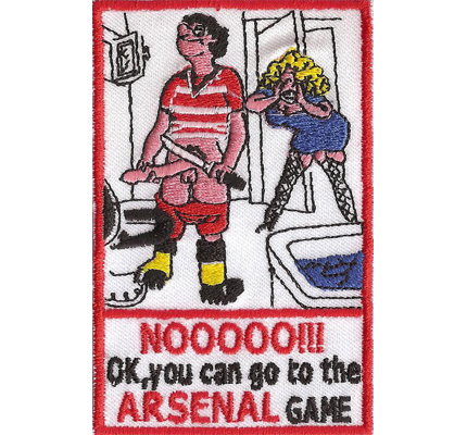 ARSENAL Soccer Fanclub Best Club, Game or Dig Off Iron on Patch Badge Aufnäher