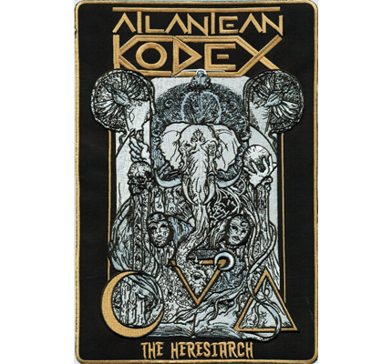 ATLANTEAN  Kodex the Heresiarch Heavy Metal Music Backpatch Patch Aufnäher