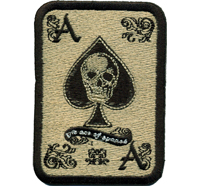 Ace of spades Skullhead Poker Card Karte Biker Metal Patch Aufnäher Abzeichen