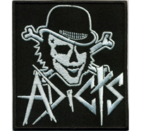 Adicts Skull Joker Clown Lunatics Biker Black Metal Patch Aufnäher Abzeichen