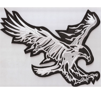 ADLER Eagle BIG Greifvogel Biker Motorrad Rückenaufnäher Backpatch Aufbügler