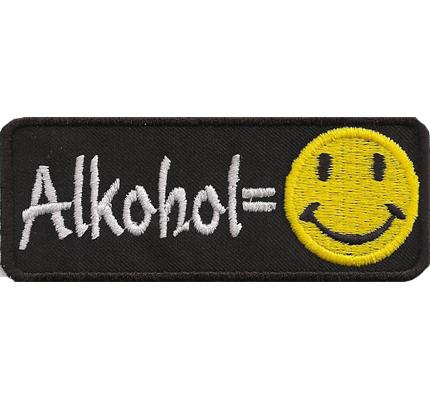 Alkohol Smiley Motorrad Lederkutte geiler Spruch Aufnäher Patch Abzeichen