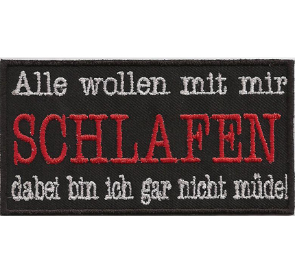 alle wollen mit mir schlafen oldlady biker girl kutte spruch aufn her patch. Black Bedroom Furniture Sets. Home Design Ideas