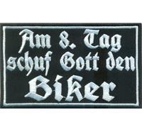 Am 8 Tag schuf Gott den Biker Rockabilly Motorrad Club Aufnäher Patch Sticker