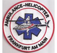 Ambulance Helicopter Frankfurt am Main RTH Rettungshubschrauber Abzeichen Aufnäher
