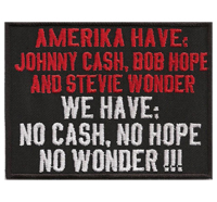 Amerika have Johnny Cash Bob Hope Stevie Wonder, Anarchy Punk Aufnäher