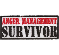 Anger Management Survivor Biker Rocker Heavy Metal Patch Aufnäher Abzeichen