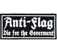 Anti-Flag Die for the Goverment Bootboys Ultras Heavy Metal Biker Patch Aufnäher