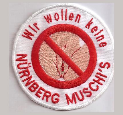 Anti 1FCN Nürnberg Muschis Pussy Fanclub Ultras Kutte Aufnäher Abzeichen Patch