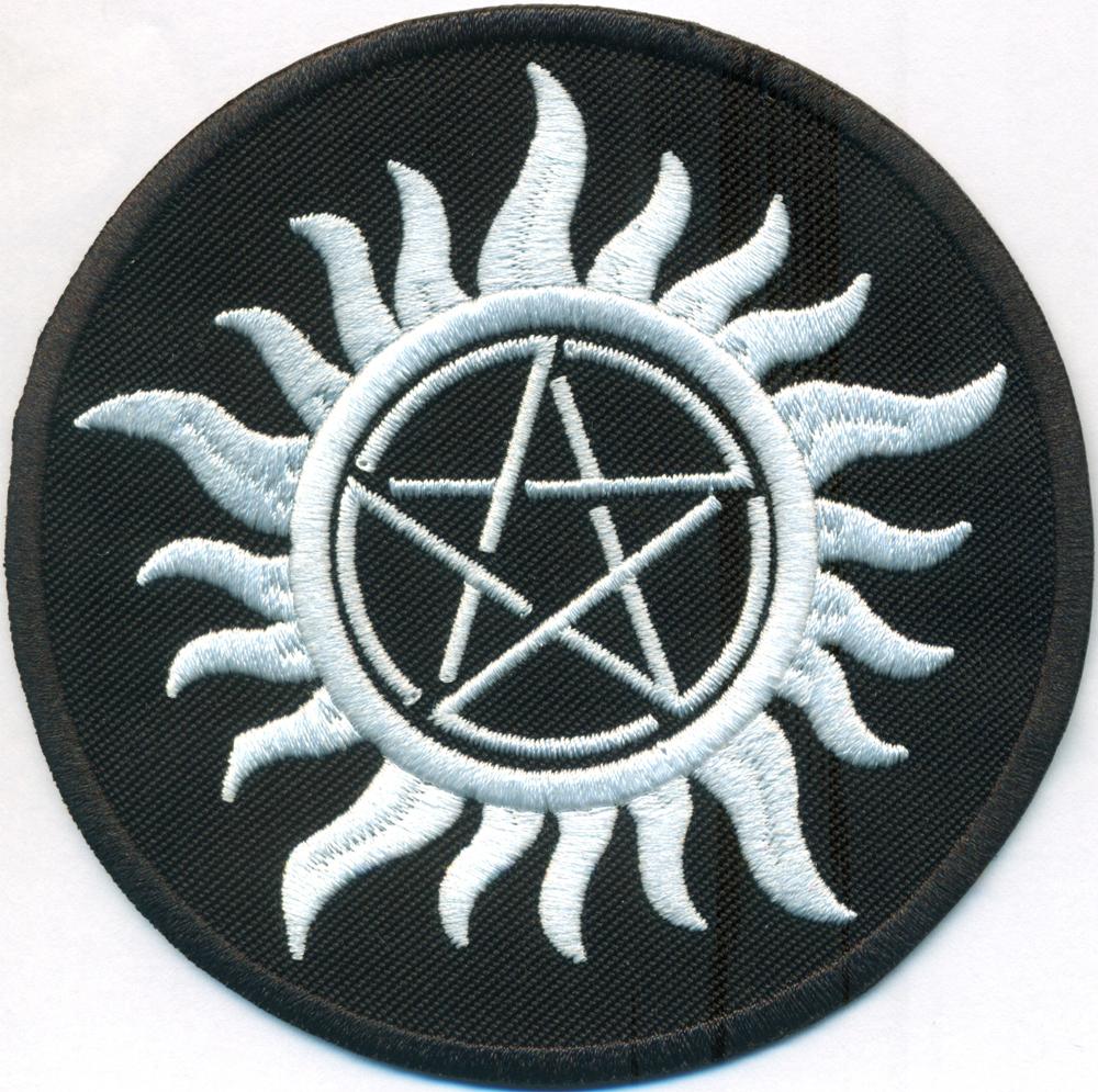 Anti Possession Symbol Anti Dämon unbesetzbar Supernatural Patch Aufnäher Abzeichen