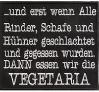 Anti Vegetaria Grillen Barbeque Chefkoch Kochjacke Aufnäher Aufbügler Patch
