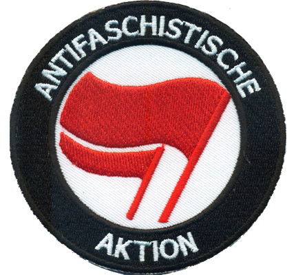 Antifaschistische Aktion Antifa Ultras Hooligan Biker Punk Patch Aufnäher