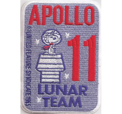 Apollo 11 Lunar NASA Snoopy Syndicate Spacestation Uniform Aufnäher Patch Badge