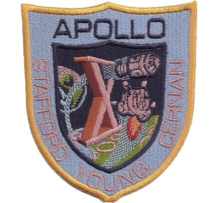 Apollo stafford young cernan Nasa Moonlanding Raumfahrt Aufnäher Patch