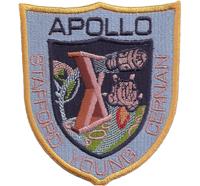 Apollo stafford young cernan Nasa Moonlanding Raumfahrt Aufnäher Patch