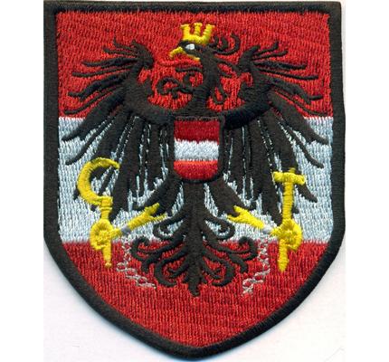 Austria Österreich Fahne Flagge Staatswappen Logo Abzeichen Aufnäher Patch