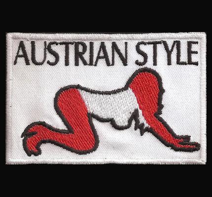 Austrian Style Austrian Doggy Style Patriot Österreicher Biker Patch Aufnäher