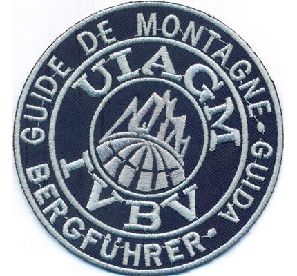 BERGFÜHRER Guide De Montagne Guida UIAGM IVBV Bergwacht Aufnäher Abzeichen