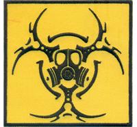 BIOHAZARD Atomkraft Giftgasangriff Outbreak Response Team Zombie Uniform Aufnäher Patch