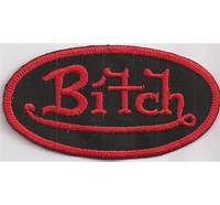 BITCH von da Dutch Biker Girl Old Lady Motorcycle Rockerbraut Kutte Patch Aufnäher