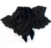 BLACK ROSE Schwarze Rose Gothic Black Metal Jacken Aufbügler Aufnäher Patch Abze