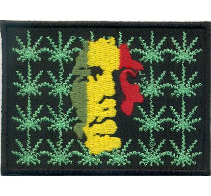 BOB MARLEY CANABIS MARIHUANA Hasch Raggae Rastafari Rucksack Aufnäher Patch
