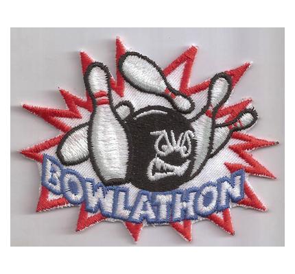 BOWLATHON Bowling Kegel Kugel Schuh Aufnäher Abzeichen Patch