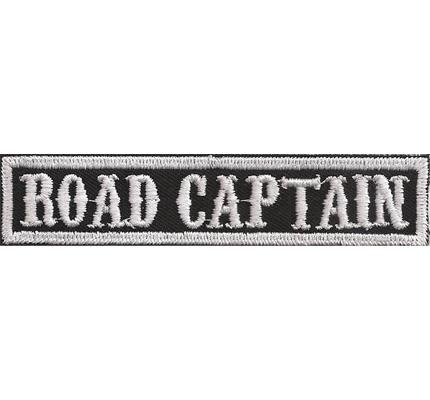 SOA sw, ROAD CAPTAIN Namensschild Rangabzeichen Motorad Kutte  Patch Aufnäher