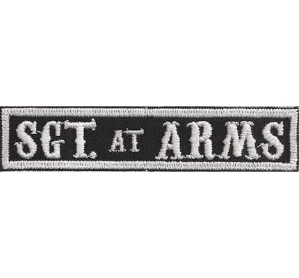 SOA sw, Sargent SGT at ARMS Namensschild Rangabzeichen Motorad Kutte  Patch Aufnäher