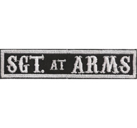 SOA sw, Sargent SGT at ARMS Namensschild Rangabzeichen Motorad Kutte  Patch Aufn